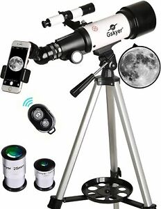 Gskyer Telescope, 70mm Aperture 400mm AZ Mount Astronomical Refracting Telescope