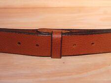Brown Leather Belt Strap 2 Inch Wide (50mm) Waist Size Mens Ladies Measurement