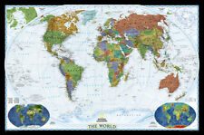 National Geographic - World Decorator Map Laminated Poster - 46x30
