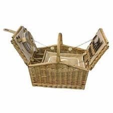 Red Hamper Farfalla Coperchio 4 Persone Aderente Agriturismo Picnic Basket