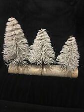 Lovely Gisela Graham White Christmas Tree Trio  Bnwt