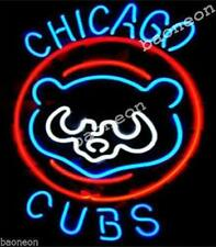 Rare CHICAGO CUBS Baseball RETRO HANDCRAFTED Beer BAR NEON LIGHT SIGN Free Ship