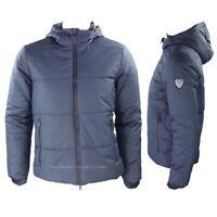 Emporio Armani EA7 Giubbotto uomo 6GPB49 blu Giacca con cappuccio inverno