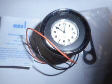 MMB Uhr Elektrisch 48 mm Körper in Chrom mit Weis Schwarzem  Ziffernblatt