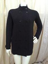 J.Crew Women's Dk Charcoal Gray 100% Merino Wool Double Breasted Sweater Coat XS