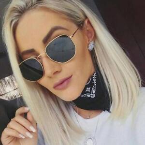 Hexagon Sunglasses Classic  Women Men Hot Brand Vintage Gradient Mirror Eyewear