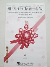 SSA Hal Leonard sheet music 'All I want for Christmas is you' Mariah Carey
