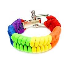 Bright Full Rainbow Paracord Bracelet - LGBT Gay Pride & Lesbian Pride Wristband