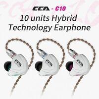 CCA C10 HIFI Headphones 4BA+1DD Hybrid In Ear Earphone Sports Noise Cancelling
