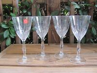 "RCR~Lorren~Crystal~7¾"" Wine Glasses~Cristalleria~Italiana~Set of Four"