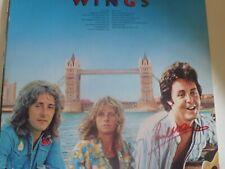 More details for paul mccartney and linda mccartney signed wings album london town rare item