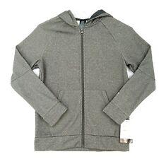 Champion Tech Fleece Jacket Boys Size M 8-10 Gray Hooded Pockets Long Sleeve NWT
