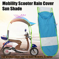 Universal Car Motor Scooter Blue Umbrella Mobility Sun Shade Rain Cover Safe DIY