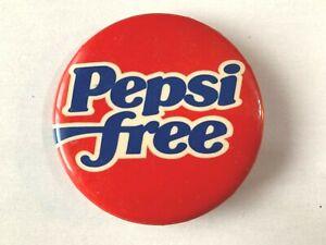 VINTAGE 1982 Pepsi Free - PepsiCo - Pinback Button