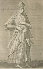 Turquie Costume femme noble Ottoman Chalcondyle Nicolas de Nicolay Gravure 1650