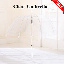 Birdcage Clear Umbrella Dome Wedding Rain Transparent Parasol Manual Transparent