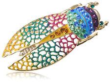 Bug Pin Brooch Halloween Jewelry Crystal Elements Rainbow Pride Filigree Cicada