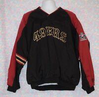 NFL San Francisco 49ers Vintage Pro Player Pullover Jacket SZ L EUC