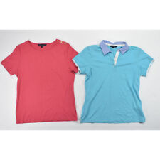 Brooks Brothers Women's Lot of 2 Short Sleeve Knit Tops MEDIUM Blue Pink