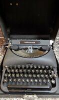 Remington Deluxe Model 5 Portable Typewriter Rare Works SN B1112303 1940 w/case