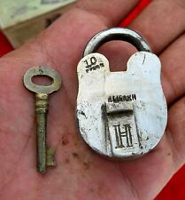 1930s Old Rare Aligarh 10 Levers Brass Mini Padlock