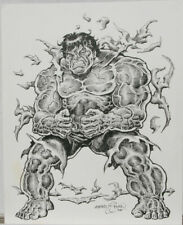 "ERNIE CHAN original art, HULK bursting out, 11""x14"", 2005, more in our"
