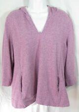 Pure Jill J Jill Size XL Purple Heather Cotton Terry Hooded Sweatshirt Hoodie
