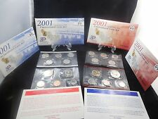 2001 United States P-D Mint Uncirculated Coin Set 20 Coins