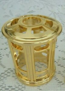 CATALYTIC FRAGRANCE OIL LAMP DECORATIVE CROWN/TOP-GOLD-FITS LAMPE BERGER & OTHER