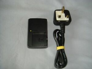 SONY BATTERY CHARGER BC-CSGE BLACK + POWER CORD WITH 3 PIN PLUG - IN GOOD COND