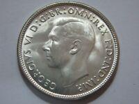 Australia Florin 1944 S Silver Coin George VI GEM Choice Uncirculated CV $595