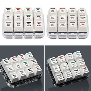 3x4 12 Cherry MX Replacement Key Switch Tester Testing Tool White Keycaps