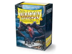 Matte Black Case Display Dragon Shield Standard Size Sleeves - 10 Packs