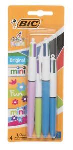 BiC@ 4 Colours Family Ball pens, Medium Nib -Fast Dispatch Free P&P