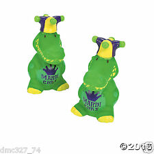 12 MARDI GRAS Fat Tuesday Party Favors Cupcake Cake Toppers ALLIGATOR Alligators