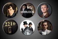 SHERLOCK Holmes magnets Set 221B TV Series Watson Baker Street BBC Moriarty