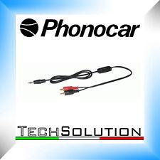 Phonocar 4/145 Cavo Adattatore I-POD RCA Jack 3,5 mm Aux Sdoppiatore