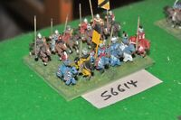 15mm medieval / english - men at arms 12 figs - cav (56614)