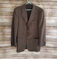 Canali Proposta Mens Wool Blazer Sport Coat Jacket Sz 40L Houndstooth EUC