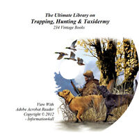 234 Books on DVD, Ultimate Library on Trapping, Hunting & Taxidermy, Survival