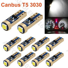 10X T5 Error Free Canbus37 70 73 74 Cree LED 1-SMD White Dashboard Light Bulbs