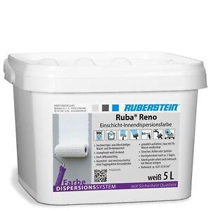Ruberstein® Dispersionsfarbe innen Ruba Reno 5 L weiß