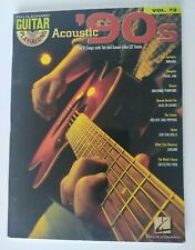 Acoustic 90s Guitar Notes & Tab Sheet Music Songs Book And CD Play Along Vol 72
