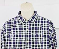 Just A Cheap Shirt Mens Long Sleeve Button Front Plaid XXL 2XL