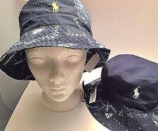 Polo Ralph Lauren NWT L XL Reversible Floppy Bucket Hat Cap Pony Shibori Tie Dye