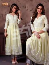 Indian Traditional Anarkali Kurti Long Frok Style Elegant Palazzo Kurta Dress
