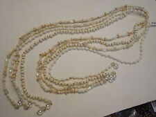 Joan Rivers Wrapped in Success 50 inch Bead Lariat SIMULATED IVORY