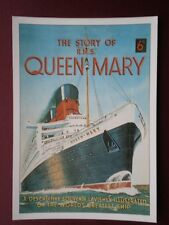 POSTCARD CRUISE LINERS FRONT COVER OF A BOOK THE STORY OF R.M.S QUEEN MARY