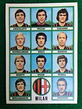 CALCIATORI 1973-74 73-1974 n 24 MILAN SQUADRA , Figurina Sticker Panini NEW