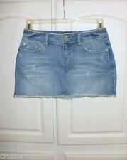 Aeropostale Distressed Cutoff Jean Mini Skirt Sz 1/2